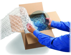 Dùng bóng khí, màng xốp có thay thế được hộp carton
